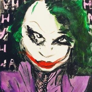 Other - 11x14in Original Joker Dc Comics Painting